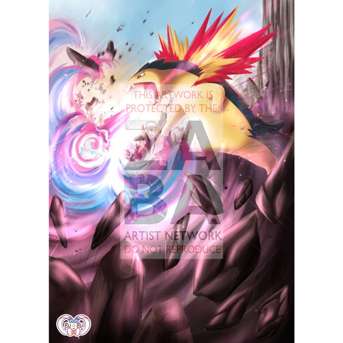 Typhlosion 42/214 Lost Thunder Extended Art Custom Pokemon Card Silver Foil