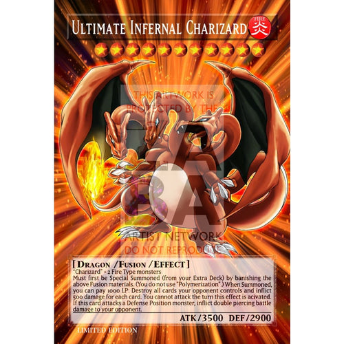 Ultimate Infernal Charizard Full Art Orica - Custom Yu-Gi-Oh! Card