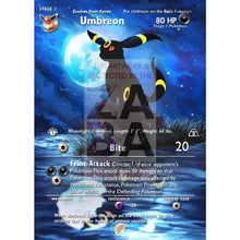 Umbreon 13/75 Neo Discovery Extended Art Custom Pokemon Card With Text Silver Foil