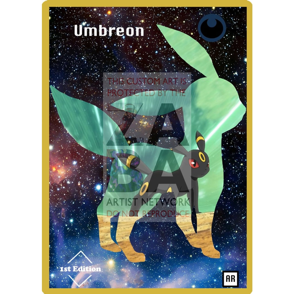 Umbreon Anime Silhouette (Drewzcustomcards) - Custom Pokemon Card
