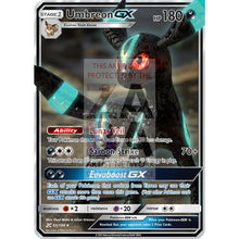 Umbreon Gx Custom Pokemon Card Shiny - Silver Holographic