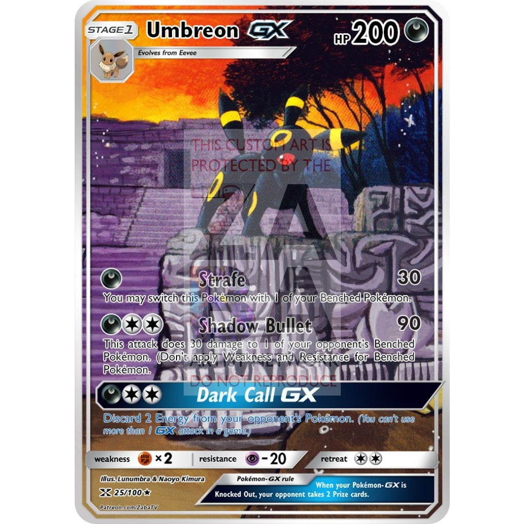 Umbreon Gx Extended Art Custom Pokemon Card