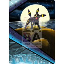 Umbreon V Custom Pokemon Card Textless Silver Foil