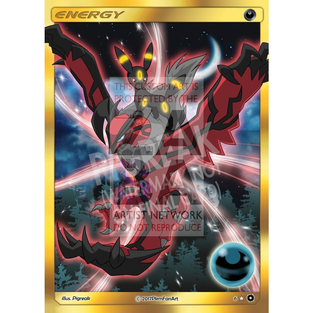 Umbreon & Yveltal Dark Energy Pigreak Custom Pokemon Card