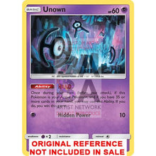 Unown H 91/214 Lost Thunder Extended Art Custom Pokemon Card