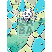 Vanillite 33/145 Guardians Rising Extended Art Custom Pokemon Card Silver Holographic Textless