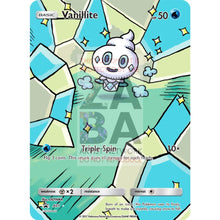 Vanillite 33/145 Guardians Rising Extended Art Custom Pokemon Card Silver Holographic
