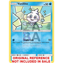 Vanillite 33/145 Guardians Rising Extended Art Custom Pokemon Card