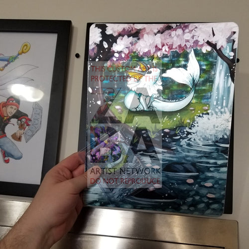 Vaporeon 12/64 Jungle 8X10.5 Holographic Poster + Card Gift Set Custom Pokemon