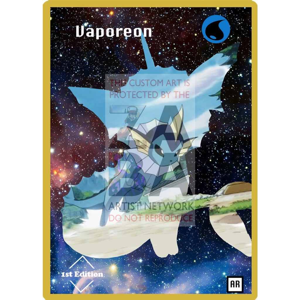 Vaporeon Anime Silhouette (Drewzcustomcards) - Custom Pokemon Card