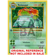 Venusaur 15/102 Base Set Extended Art Custom Pokemon Card