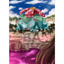 Venusaur 3/108 Bw Dark Explorers Extended Art Custom Pokemon Card Silver Holographic Textless