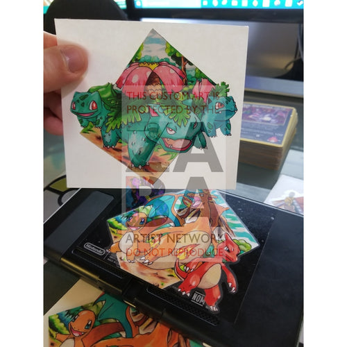 Venusaur Evolution 4X4 Sticker - Custom Pokemon Sticker Card