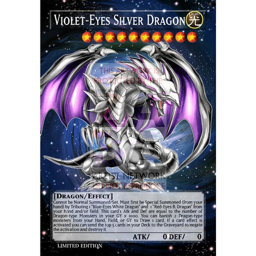 Violet-Eyes Silver Dragon Full Art Orica - Custom Yu-Gi-Oh! Card