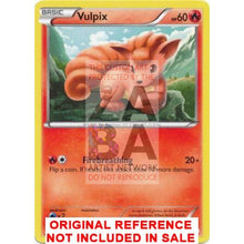Vulpix 20/113 Legendary Treasures Extended Art Custom Pokemon Card