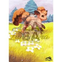 Vulpix 87/123 Heartgold Soulsilver Extended Art Custom Pokemon Card Textless Silver Holographic