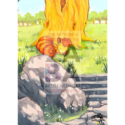 Vulpix 91/105 Neo Destiny Extended Art Custom Pokemon Card Textless Silver Holographic