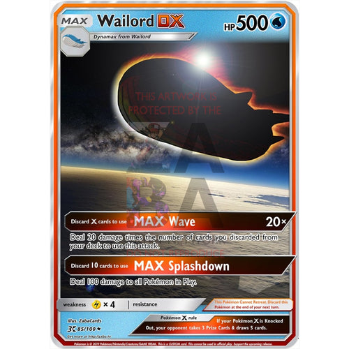 Wailord Dx Custom Pokemon Card