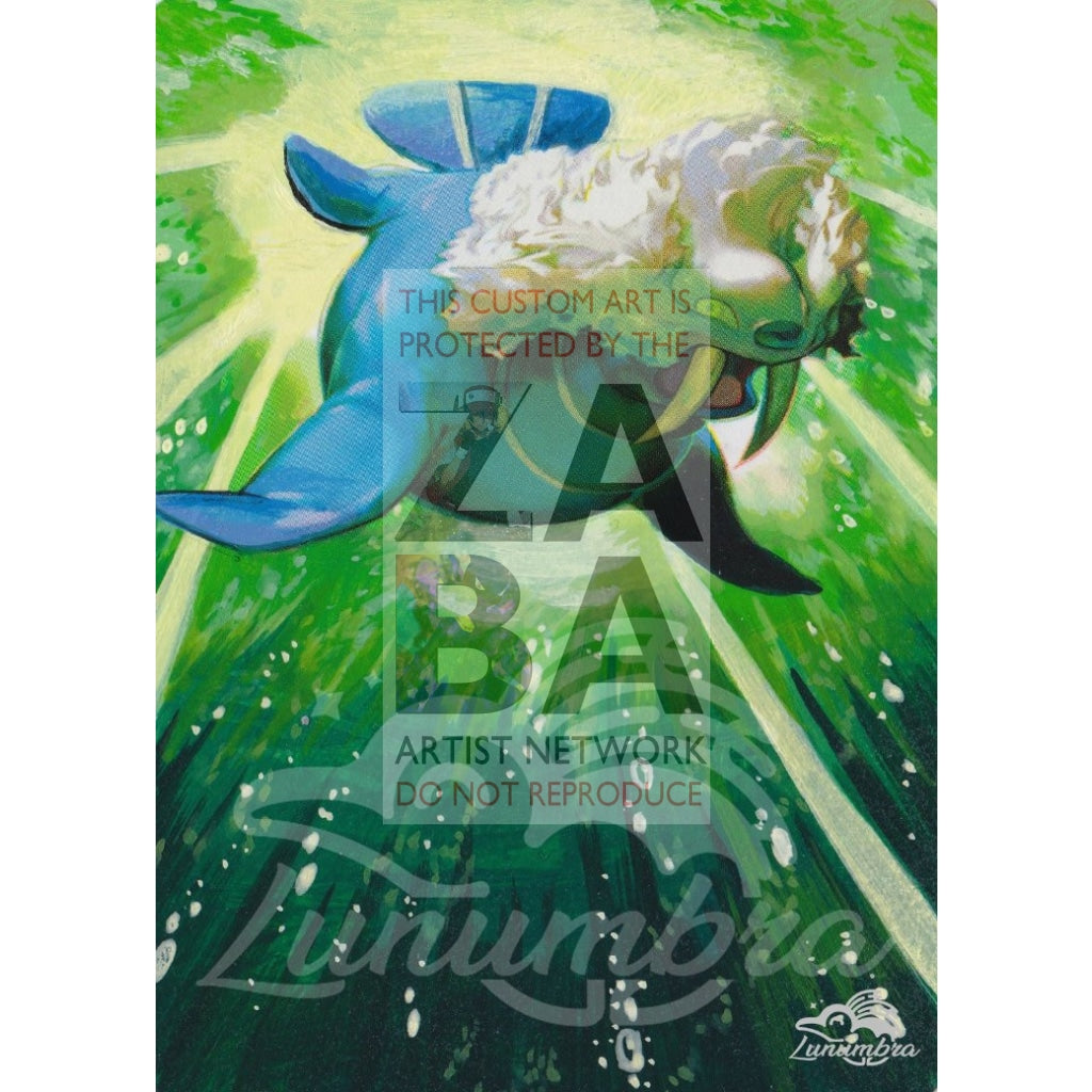 Walrein 36/111 Rising Rivals Extended Art Custom Pokemon Card Textless Silver Holographic