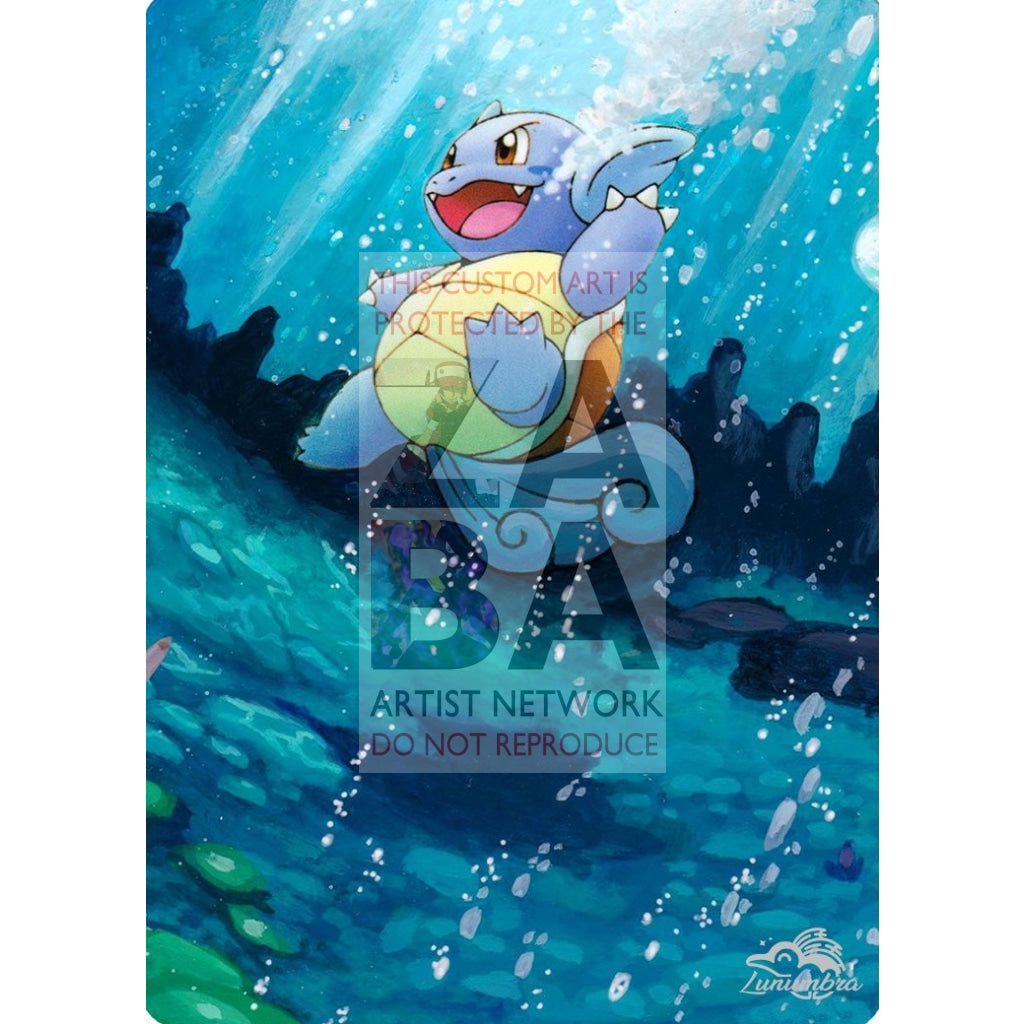 Wartortle 24/100 Ex Crystal Guardians Extended Art Custom Pokemon Card Textless Silver Holographic