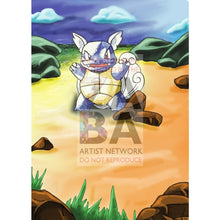 Wartortle 42/102 Base Set Extended Art - Custom Pokemon Card Silver Holographic