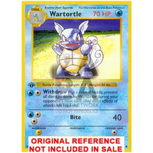 Wartortle 42/102 Base Set Extended Art Custom Pokemon Card