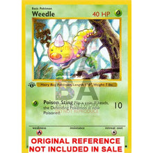 Weedle 69/102 Base Extended Art Custom Pokemon Card