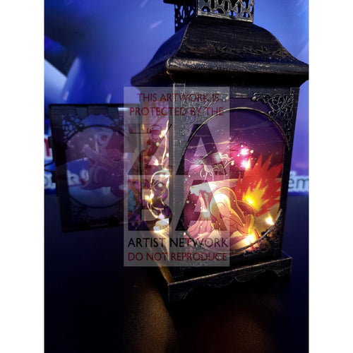 Winter In Johto Uv Printed Custom Lantern With Wire Lighting (Limited Series Of 10) Pokemon Card