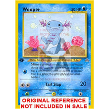 Wooper 71/75 Neo Discovery Extended Art Custom Pokemon Card
