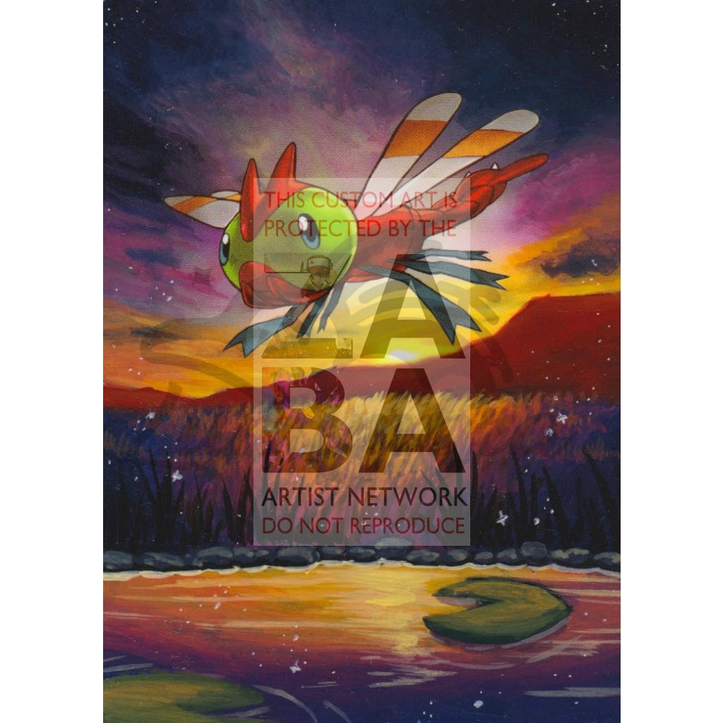 Yanma 6/114 Xy Steam Siege Extended Art Custom Pokemon Card Textless Silver Holographic