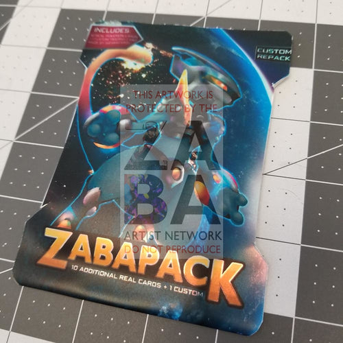 Zaba Collector Pack- Pokemon Cards + Custom Card Pack Packs