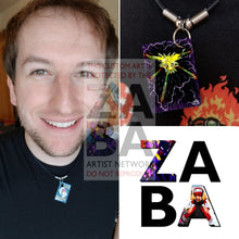 Zapdos 16/102 Base Set Extended Art Custom Pokemon Card 18 Necklace (Pic For Reference)