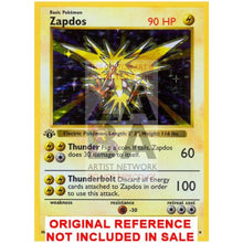Zapdos 16/102 Base Set Extended Art Custom Pokemon Card