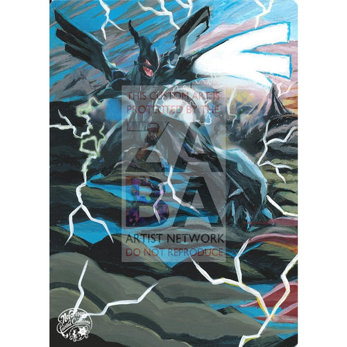Zekrom 64/108 Roaring Skies Extended Art Custom Pokemon Card Silver Holo