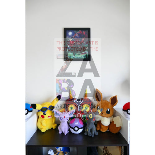 Zorua (52/73 Shining Legends) 8.5 X 11 Poster Print By Edwin-San