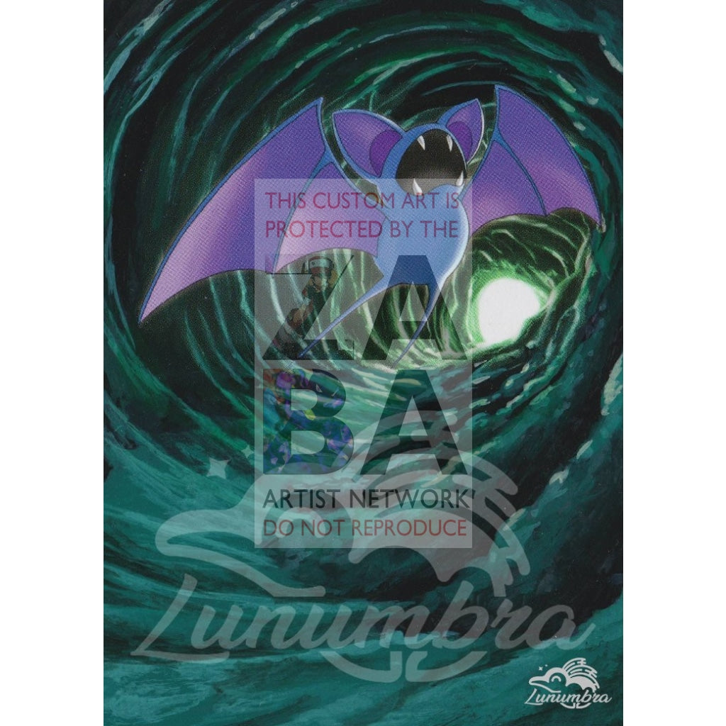 Zubat 133/147 Platinum Supreme Victors Extended Art Custom Pokemon Card Textless Silver Holographic