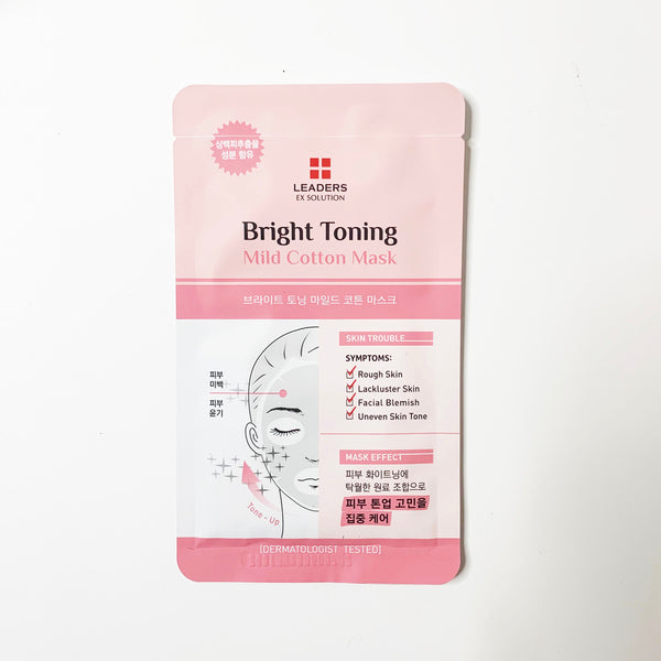 LEADERS Ex-Solution Mild CottonMask Bright Toning
