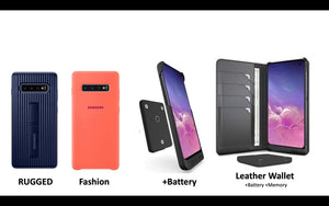 The Best Samsung Galaxy S10e, S10, and S10 Plus cases including leather wallet +battery +memory case