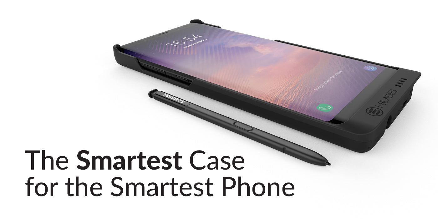 huge discount 74c33 d63ac Ultimate Galaxy Note 8 battery case | World's first Smartcase - i-BLADES