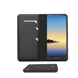 Galaxy Note 8 Leather Wallet Smart case +Battery, +Memory, +SDcard & EnviroSensor ++
