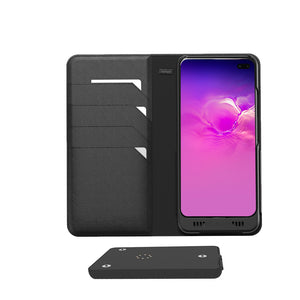 Galaxy S10 Plus Leather Wallet Smart case +Battery, +Memory, +SDcard & EnviroSensor ++
