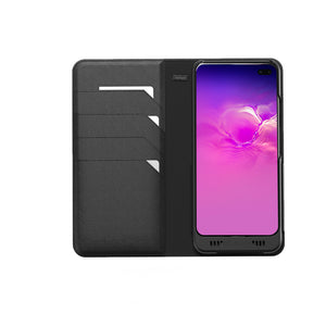 Galaxy S10 Plus Leather Wallet Smart case +EnviroSensor