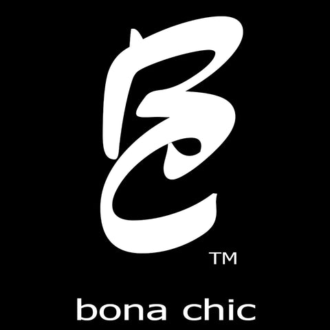 bona chic cosmetics logo, Lifestyle Brand, Trademarked, designed by Angela Puccio, Black and white main company colors