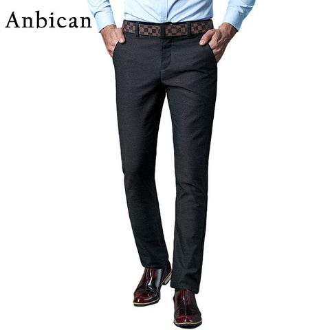 Big Size Casual Pants Men 2016 Brand New Winter Cotton Full Length Dress Pants