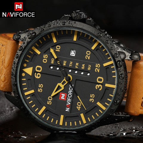 Men Watches Male Leather Clock Luxury Brand Date Japan Movt Men Quartz Casual Watch Army Military Sports - amazingbigdiscounts