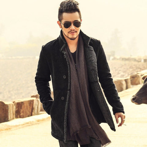 Men's Leather Jacket Coat