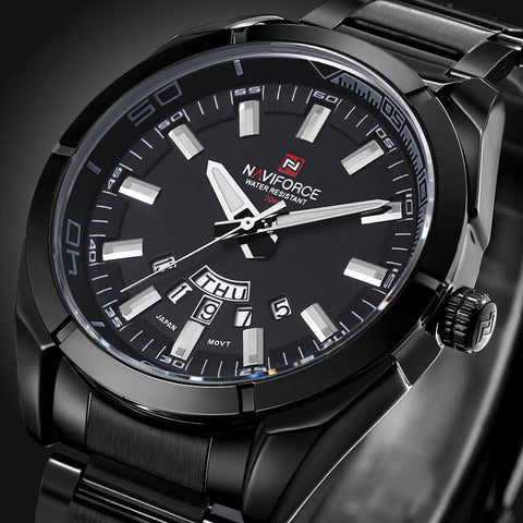 Luxury Men Quartz Waterproof Watches Full Steel Men Watches Top Brand  Men Sports Watch Popular Watches - amazingbigdiscounts