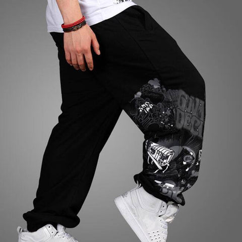 Baggy Sweatpants Men Hip Hop Pants 2017 New Hiphop Street Dance Boy Sweatpants Printed Pattern - amazingbigdiscounts