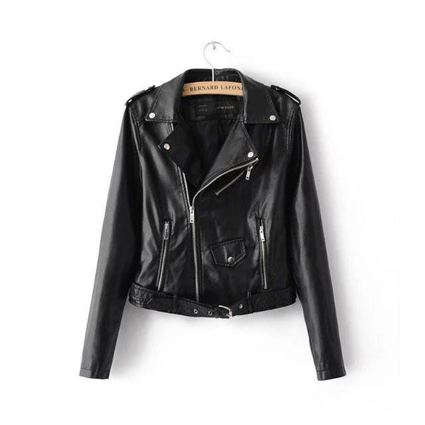 Women's Jacket , Autumn&Winter Ladies Motorcycle Leather Jacket