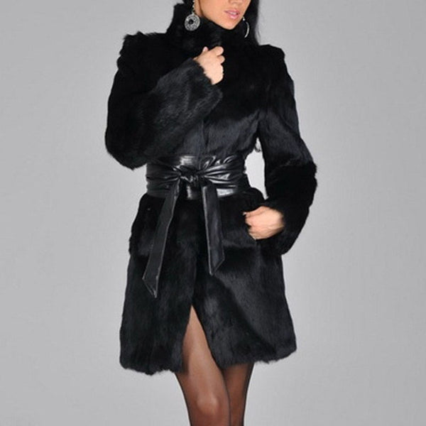 Woman's Leather Coats Female Mink Fur Clothing
